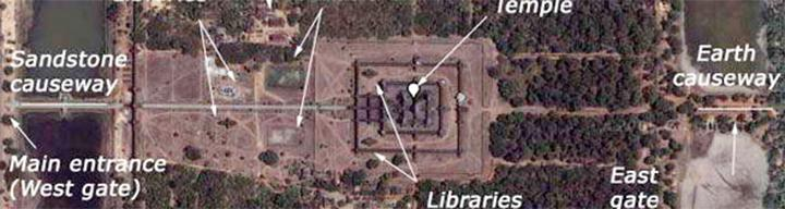 Maps of Angkor Wat Temple